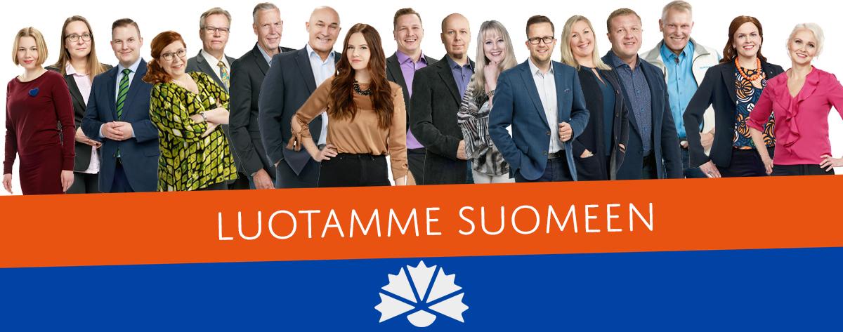 Kokoomuksen ehdokkaat Oulun vaalipiirissä 2019